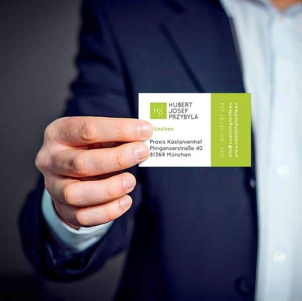 Erstellte Visitenkarte eines Kunden