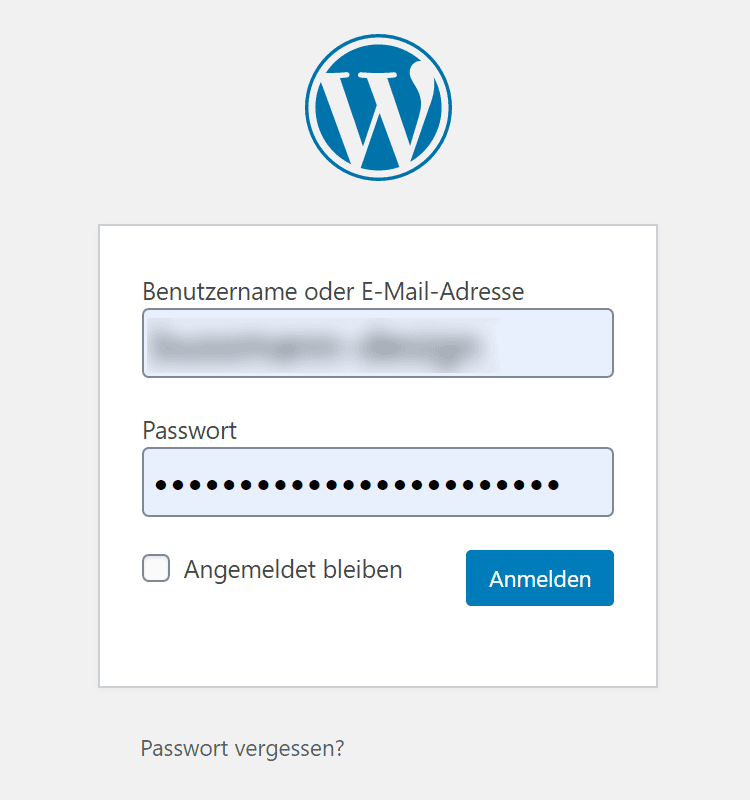 In-WordPress-einloggen