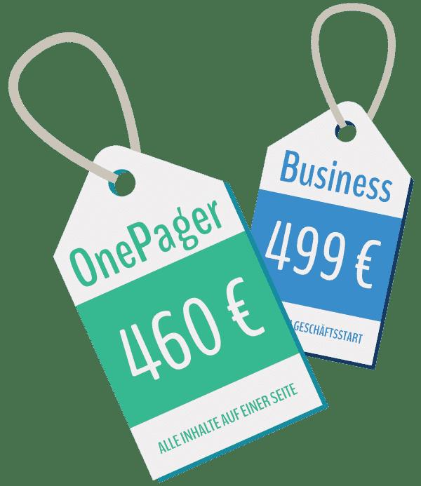 Preis-Rechner für die Erstellung einer Webseite