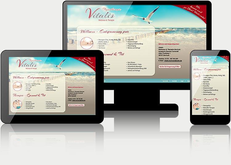 Responsive Webdesign - Alle Webseiten werden immer mit Dektop- Tablet- und Smartphone-Modus ausgestattet