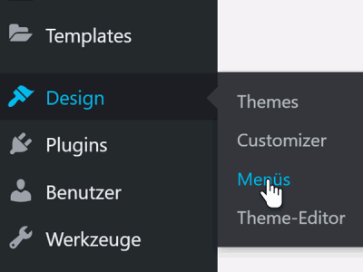 So wird das Menü die Navigation in WordPress bearbeitet